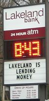 Lakeland Bank of NJ wants you to know they have money to lend.
